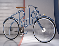 3D Bycicle Lettering