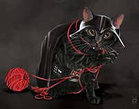 Darth Vader the Cat