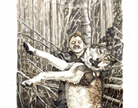 Untitled (Hunter and Wolf)