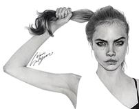 Cara Delevigne Portrait