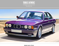 BMW M5 (E34) Illustration