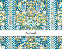 Zentangle Textile Design