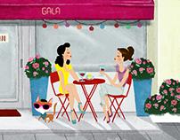 Gala Bistrot Restaurant . Illustration, T-Shirt Design