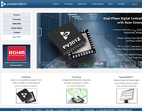 Powervation (Bought by Rohm) - Website Design
