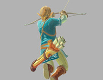 Link zelda the breath of the wild