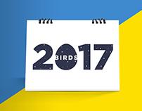 Birds - 2017 Calendar | Vector Illustration Project