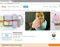 Product Photography for Babylovepdx: Etsy Shop