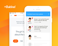 Babbel. Language learning app  with 3 million+ users.