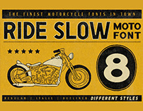Ride Slow - Motorcycle Font Bundle