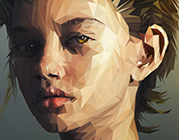 Marina Nery ( lowpoly illustration ) step by step