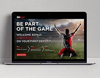 Sport banners landing page template