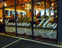 Handsome Hog Branding, Website, Menu, Signage, etc.