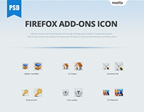 Firefox Add-ons icon_PSD