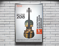 Czech Suzuki Association Violin Workshop Poster