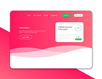 dribbble education landing page
