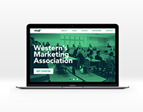 Western's Marketing Association Website Mockup