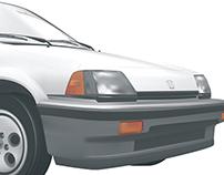 Photorealistic Honda
