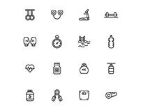 Gym Icons Set