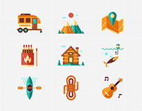 Outdoor and Recreation Flat icon - Epic Adventure