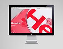 Helvetica film web concept