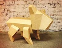 Cardboard's dog