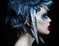 Le dame de blue