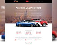 Nano Golden Website White Design for Coating