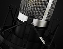 Studio Microphone - Product 3D Illustration