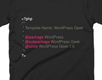 WordPress Geek T-shirt