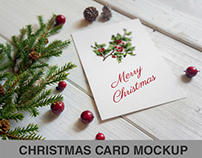 Christmas card Mockup _ Vertical