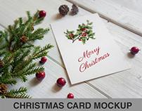 Christmas card Mockup _ Vertical