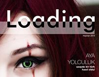 Workinprogress editorial design for Alicengiz: Loading