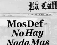 Mos Def-No Hay Nada Mas typographic animation