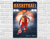 Sports banner photography template