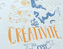 """Illus """"La créativité c'est l'intelligence qui s'amuse"""""""