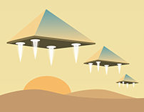 Egyptian Pyramids illustration