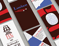 Lucian Typeface Promo Cards