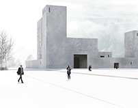 Competition entry. Church in Wroclaw. Third prize.