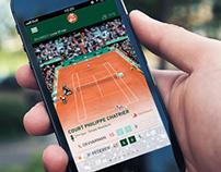 Roland Garros mobile app revamp