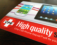 Cell Phone Repair Store Marketing Rack Card