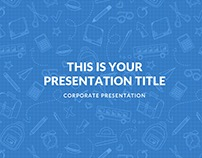 BLUE POWERPOINT TEMPLATE KEYNOTE GOOGLE SLIDES