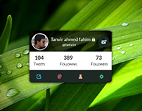 Twitter widget UI