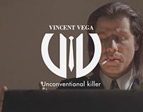 Vincent Vega    Logo    Brand Identity
