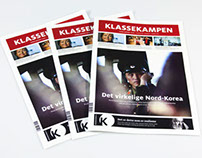 Klassekampen – newspaper design