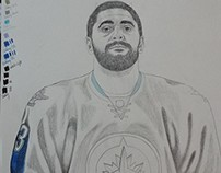 Saint & Sinner. Winnipeg Jets star Dustin Byfuglien.