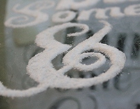 Superstitious Typography -  3d typography