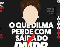 O que a Dilma perde com a saída do PMDB?