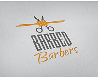 Barbed Barbers - Branding Concept