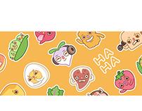 Yummy Punnies Sticker Pack