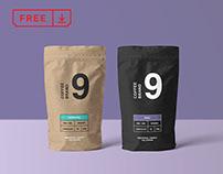Free Coffee Bag Mockup